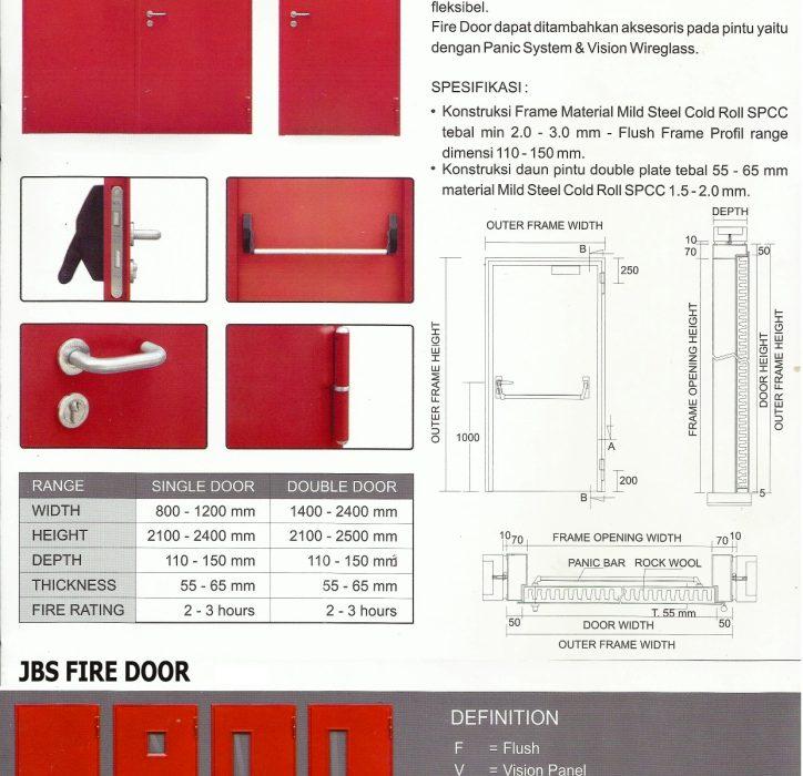 Brosur, Pintu Fire Door, Harga Pintu Besi Fire Door